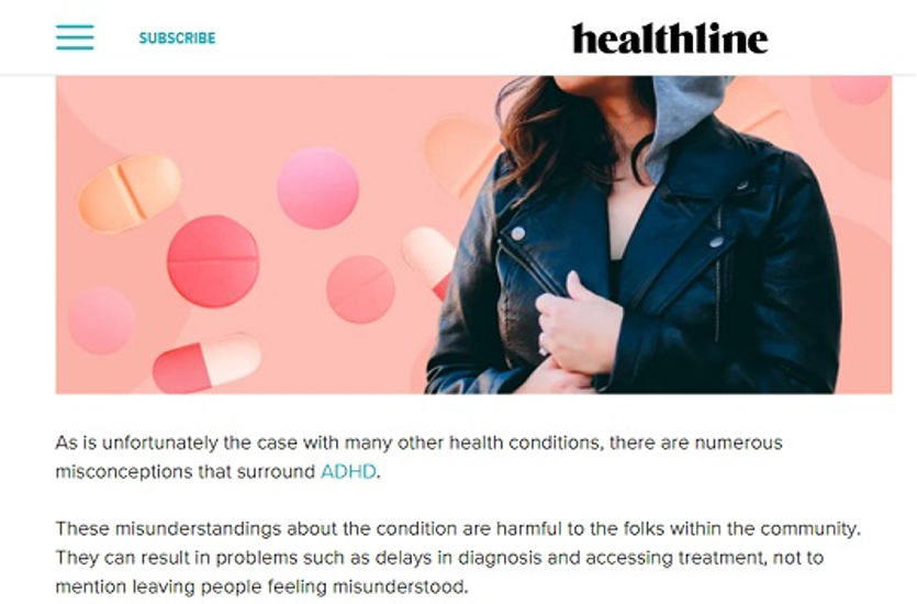 Example: In content link on Healthline.com.