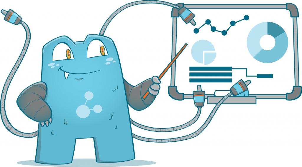 Internal Link Juicer Mascot pointing at a chart