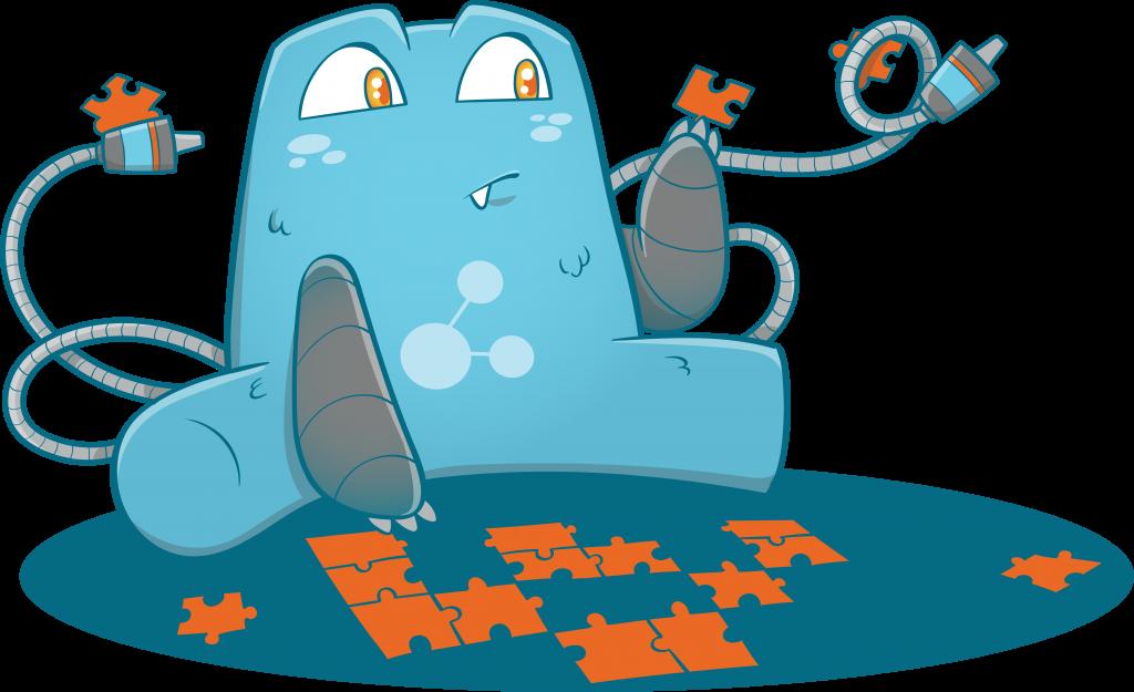 Internal Link Juicer Mascot solving a jigsaw puzzle