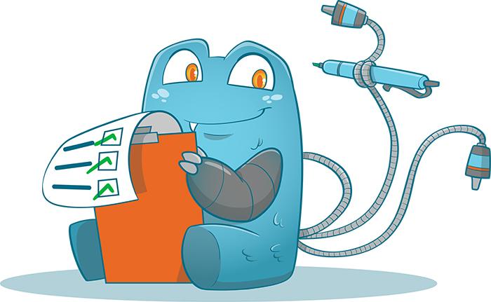 Internal Link Juicer Mascot doing an internal link audit