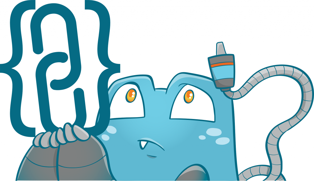 Internal Link Juicer Mascot with a curios face