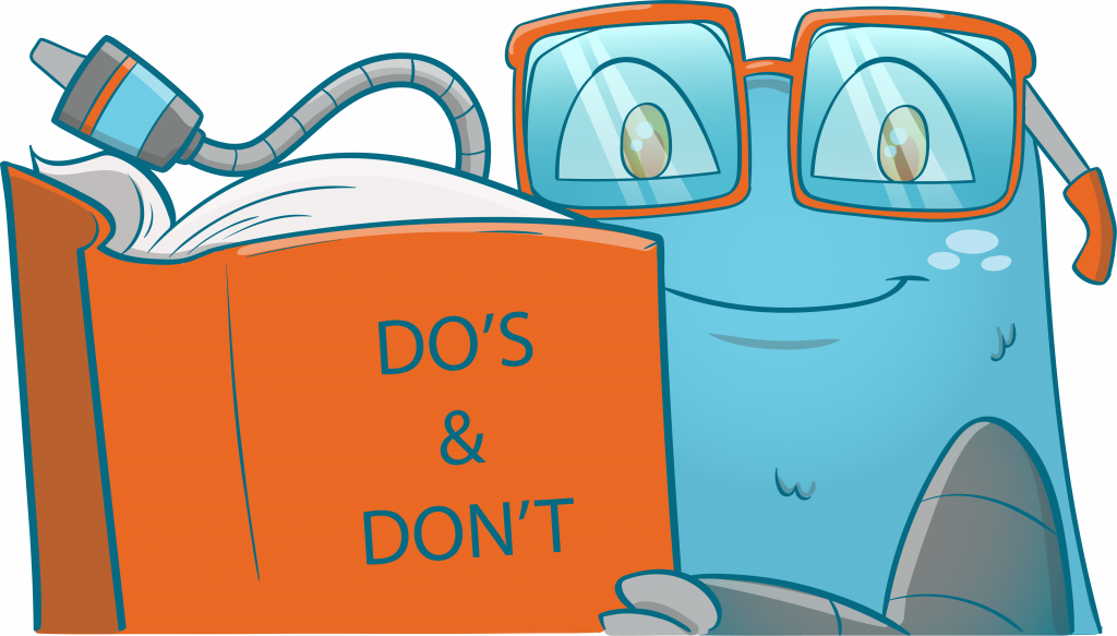 Internal Link Juicer Mascot holding a book with a Do's and Don't written on the cover