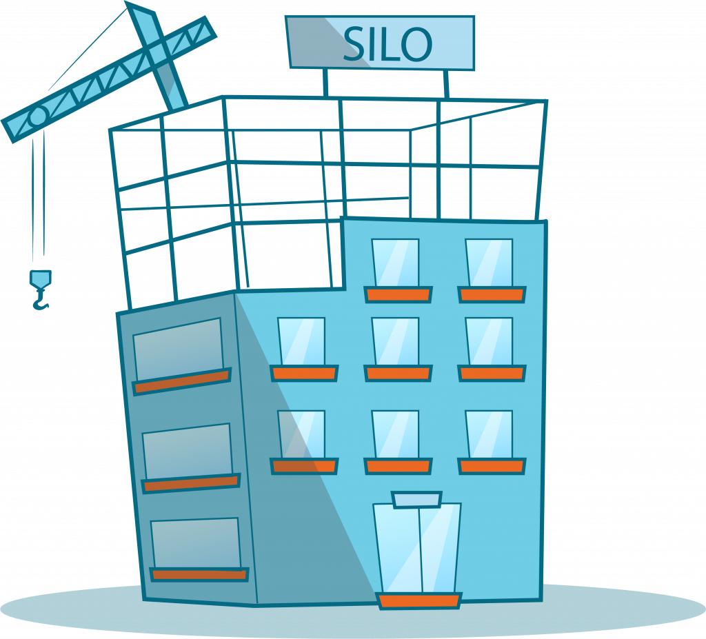 """Unfinished building with the word """"SILO"""" on top of it."""